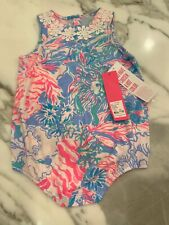 Lilly Pulitzer NWT Infant May Bodysuit Blue Peri 18-24