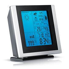 Brandson Funk Wetterstation inkl. Außensensor | Hygrometer / Barometer / Wecker