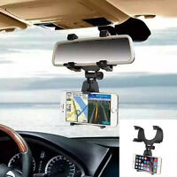 universel 360° Auto Voiture Rétroviseurs Support de téléphone pour smartphone