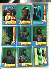 1983 Topps The A-Team Set #1-66 Plus Sticker Cards #1-12 Near Mint Condition