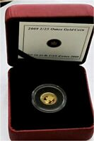 2009 CANADA 9999 GOLD  $1/2 DOLLAR 1/25 OZ  50 CENTS RED MAPLE  PROOF