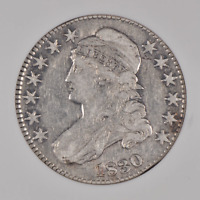 1830 Capped Bust Half Dollar, Small 0, NGC VF25