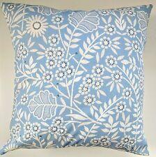 """Funda de cojín en la siguiente Azul Creswell Floral 16"""" partidos Cortinas & Wallpaper"""