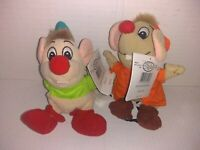 Lot Of 2 Disney Cinderella Plush Bean Bag Beanies with Tags Jaq Gus Mouse