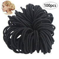 100PCS Hair Tie Rubber Band Thick Curly Hair Rings Elastics Ponytail Holder 5cm
