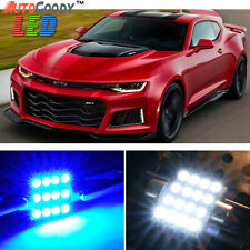 7 x Premium Blue LED Lights Interior Package for Chevy Camaro 2010-2015 + Tool
