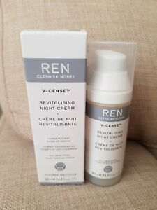New Ren V-Cense Revitalising Night Cream First Signs Of Ageing All Skin Types