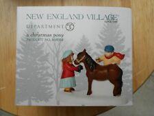 Dept 56 New England Village Accessory A Christmas Pony Nib