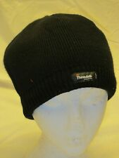 45423344379b3 New no tags Small Thinsulate Fleece lined beanie hat. Black