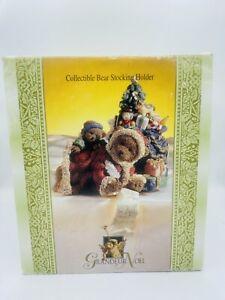 Grandeur Noel Collectible Bear Stocking Holder Hanger Teddy Bear Christmas Tree