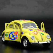 VW Beetle 1967 Painted Version Model Cars Toys 1:32 Alloy Diecast Gifts Yellow