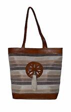 Leather Handbag Moroccan Handmade purse Women Shopping Bag Clutch Sabra Beige