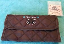 NEW Sanrio Chococat Long Wallet Clutch in Chocolate Brown Design Pattern