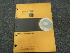John Deere 710C Backhoe Loader Owner Operator Maintenance Manual OMT134374