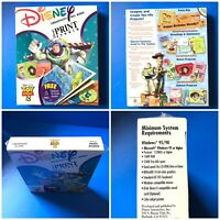 Disney pixar Print Studio Toy Story 2 PC CD-ROM WINDOWS NEW SEALED BIG BOX