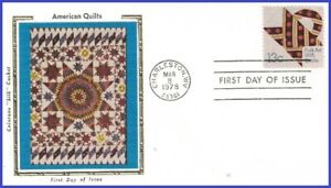 USA5 #1745 U/A COLORANO SILK FDC Quilt Flowers