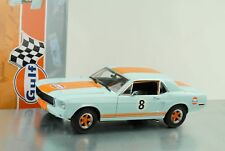 Ford Mustang Coupe 1967 Gulf blue with orange stripes1:18 Greenlight
