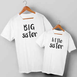Big Sister & Little Sister - Two Matching T-shirts Set - All Sizes 1 years+