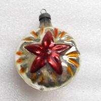 Old Antiker Russen Christbaumschmuck Glas Weihnachtsschmuck Roter Stern der UdSS