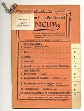 NEDERLAND-1907 BOEKJE (de BUSSY) MET POST EN TELEGRAAF TARIEVEN  58 BLADZ.