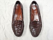 SAS brown textured patent leather Tripad comfort shoe   Size 7 1/2