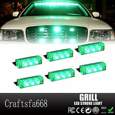 Green 18 LED Emergency Hazard Car Truck Vehicle Police Grill Strobe Lights Bars