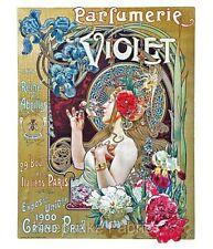 Parfumerie Violet Art Nouveau Crazy Quilt Block Multi Sizes FrEE ShiP WoRld WiDE