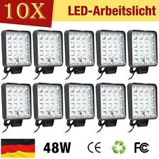 10X 48W LED Arbeitsscheinwerfer Offroad Scheinwerfer JEEP Bagger SUV 12V IP67