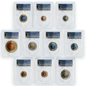 Australia set of 10 coins Planetary Coins Mars Sun Earth MS69*4 MS70*6 PCGS 2017
