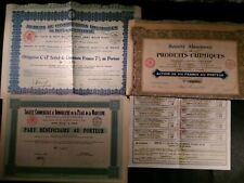 OLD SHARES&BONDS 1927-32 ELECTRICAL REAL ESTATE CHEMICAL COMPANIES FRANCE HUNGAR