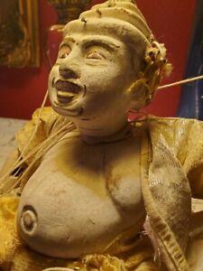 Vintage Hand Carved Wooden String Marionette / Puppet