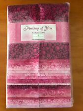 Jelly Roll Pinking of You Pink Fabric 100% Cotton 40 Piece Karot Gems Strips