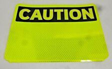 "NEW BRADY Reflective Vinyl Caution Sign, 7"" x 10"", BLK/YEL, Adhesive, 102457"