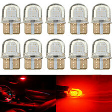 10PCS T10 194 168 W5W COB 8 SMD Led SILICA Super Bright Red Light Bulbs Turn