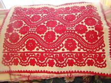 Hungarian Kalotaszegi Heavy Linen Pillow Hand Embroidered! Vintage Textile
