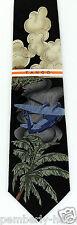 Tango Island Hopping Mens Necktie Silk Neck Tie Airplane Plane Tropical