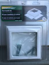 """Yard Smart 4"""" x 4"""" Deck and Porch Post Install Kits- 4 kits included"""