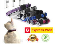 Adjustable Sparkle Cat Collar Sparkly Pet Kitten Animal Fun Bright Bling Bell