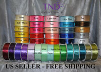 "SATIN RIBBON 100% POLYESTER 50 YD/100 YD ROLL 1/4"" 3/8"" 5/8"" 7/8"" 1.5"" WIDE"