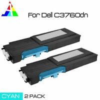 2 PK Cyan Toner Cartridge for Dell C3760DN C3765DNF C3760N C3760 331-8432