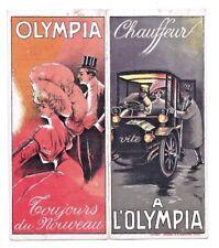 Rare OLYMPIA PARIS MUSIC HALL THEATRE AD BROCHURE Beautiful Woman car Art Damare