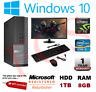 FAST GAMING DELL BUNDLE TOWER PC FULL SET COMPUTER SYSTEM INTEL i5 8GB 1TB GT710