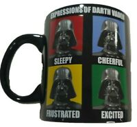 Star Wars Mug Expressions of Darth Vader Coffee Cup 20oz Ceramic Black Lucasfilm