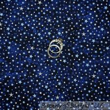 BonEful Fabric FQ Cotton Quilt Blue Navy STAR Sky Glow in the Dark Harry Potter