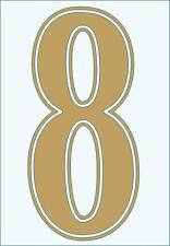 Football shirt number for just £1 (per digit)) IRON ON or heatpress Vinyl GOLD