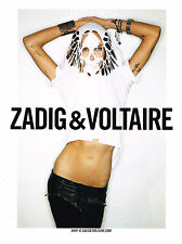 PUBLICITE  ADVERTISING 2011   ZADIG & VOLTAIRE  haute couture