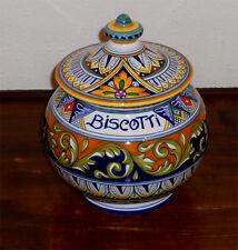 Deruta Italian Pottery GEOMETRICO  BISCOTTI JAR