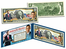 USA $2 Dollar Bill BARACK OBAMA * The 44th President Official Colorized