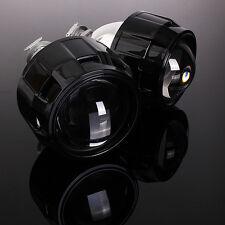 "2x 2.5"" RHD Car Motor Bi-xenon HID Projector Halo Lens Headlight Shroud H1 H4 H7"