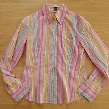 ESPRIT Stretch Bluse Gr. S / 36 rosa grün gelb